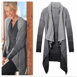 Athleta ombré sweater, gray and black, size M